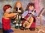 Cello mit Geige und Flöte